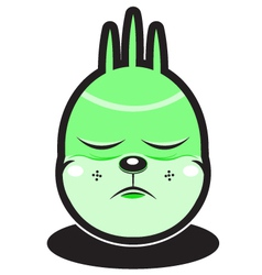 cute green wind element cartoon monster vector image