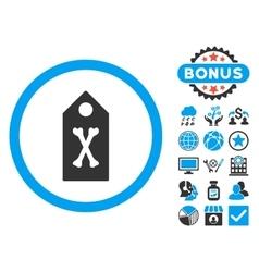 Dead Marker Flat Icon with Bonus vector image vector image