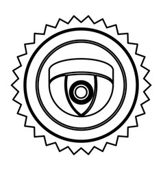 Emblem video camera interior icon symbol video vector