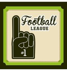 football championship design vector image