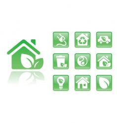 green icons home vector image vector image