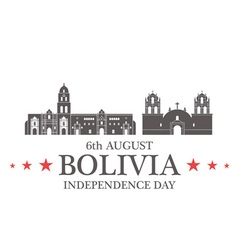 Independence day bolivia vector