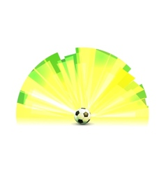Light Banner Round Form with Soccer Ball vector image
