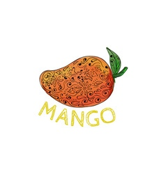 Mango Juicy Fruit Mandala vector image vector image