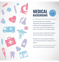 Medical background template vector image vector image