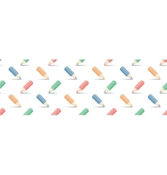 multicolored pencils on white vector image vector image