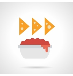 Nachos color flat icon vector