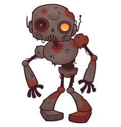 Rusty zombie robot vector