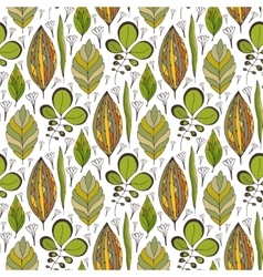 seamless pattern with ethnic leaves vector image