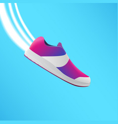 shoes design running shoes blue and lilac vector image