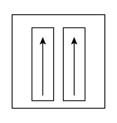Sign of vertical position of package icon vector