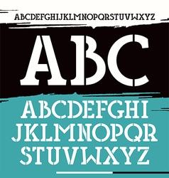 Slab serif stencil plate font vector
