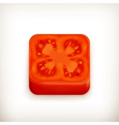 Slice of tomato app icon vector image vector image