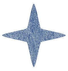 Sparkle star fabric textured icon vector