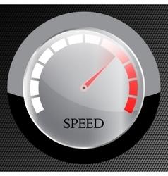 Speedometer web flat icon vector