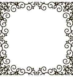 square frame of the patterns vector image