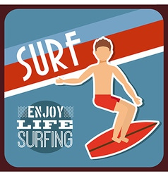 surfing sport vector image vector image