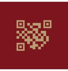 The qr code icon link and url symbol flat vector