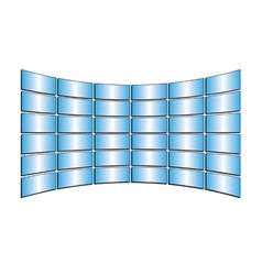 tv blue monitors with gradients vector image