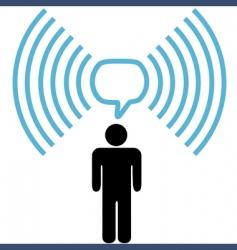 broadband communication vector image