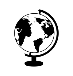 Globe planet isolated icon vector
