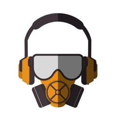 Mask headphone and glasses design vector