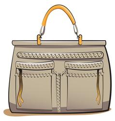 gray ladies handbag vector image