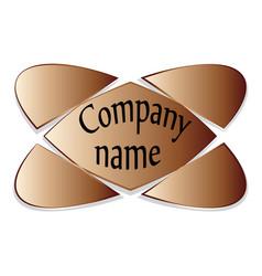 Emblem a symbol of the five elements brown vector