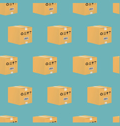 cardboard box seamless pattern vector image