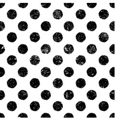 Grunge dots seamless pattern abstract vintage vector