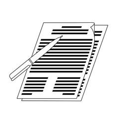 Signature of documentsrealtor single icon in vector