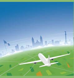 Mexico skyline flight destination vector