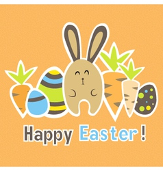 Easter colorful orange card template vector