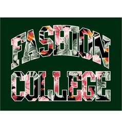 Fashion college vector