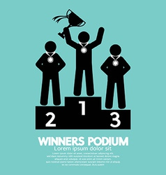Winners podium symbol vector