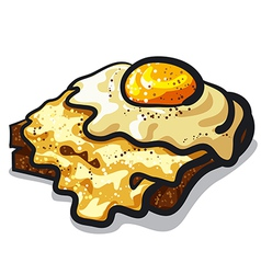 Toast with egg and cheese vector