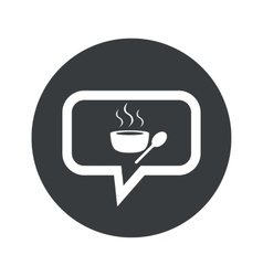 Round hot soup dialog icon vector