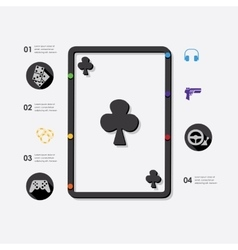 Game infographic vector