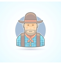 Cowboy an american animal helder icon vector