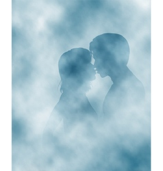 Steamy lovers vector