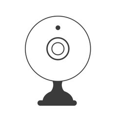 Webcam chat device icon icon vector