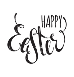 Happy easter handwriting grunge inscription vector