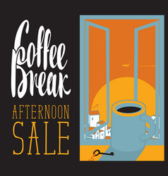 afternoon coffee cup vector image vector image
