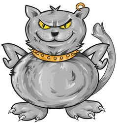 angry cat vector image vector image