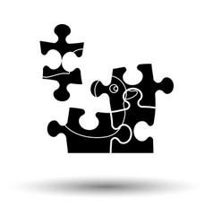 Baby puzzle ico vector