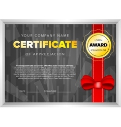Black certificate design vector image