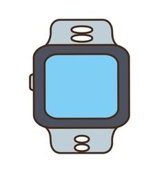 Cartoon sport smart watch wearable technology vector