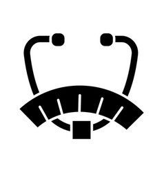 Fat analyser icon black sign vector