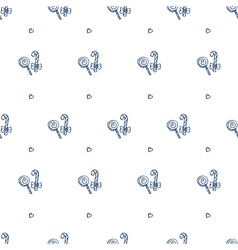 hand drawn lollipop seamless pattern vector image vector image