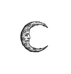 Hand drawn moon vector